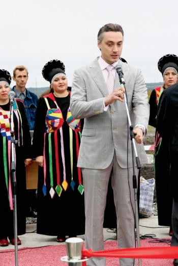 На открытии свинокомплекса «Уральский» – крупнейшго животноводческого предприятия Урала