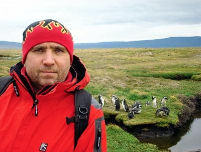 Виктор Бирюков на Южном полюсе