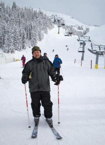 Николай Бобин на горнолыжном курорте. Канада, штат Альберта, 2005 г.